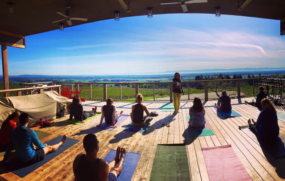 Yoga with Chelsii @ Brooks Winery Tasting Room | Amity | Oregon | United States